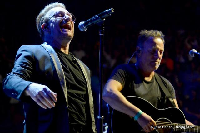 Bruce Springsteen perform with U2 in New York